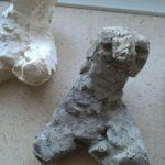Skulptur i gips og beton